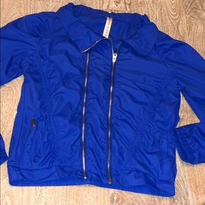 Lorna Jane active blue jacket windbreaker large